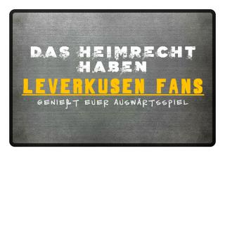 Leverkusen Fußmatte Heimrecht