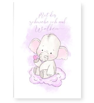 smietz Poster DIN A3 - kleiner Elefant