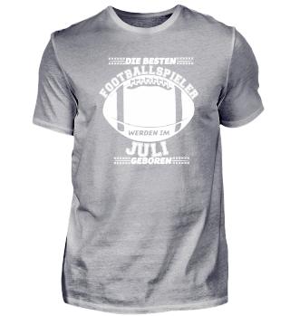 American Football Geburtstag Juli Shirt
