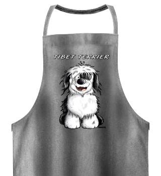 Drolliger Tibet Terrier Hund Comic