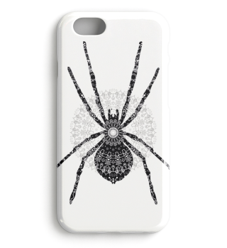 Big SPIDER Mandala black white gray 1