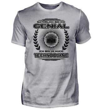 Geschenk Genial bin meisterin Techno djane