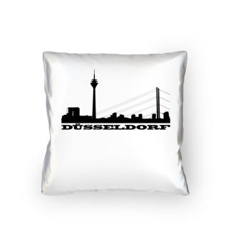 Düsseldorf CitySkyline Silhouette Kissen
