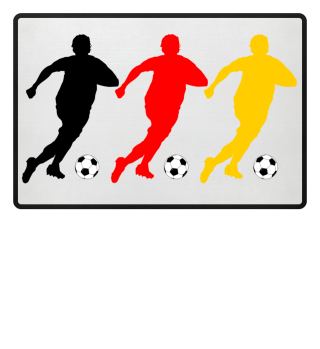 Fussball Spieler Mob schwarz rot gold 1