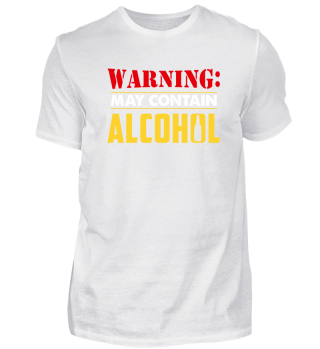 Funny beer shirt - may contain alcohol
