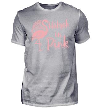 Lustiges Flamingo Shirt Hubsch in Pink