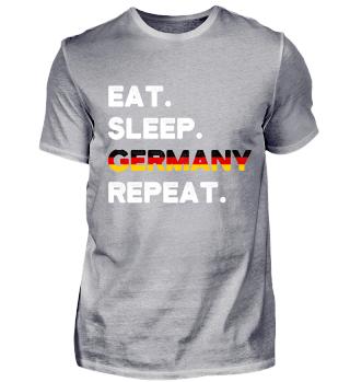 Eat Sleep Germany Repeat German Souvenir
