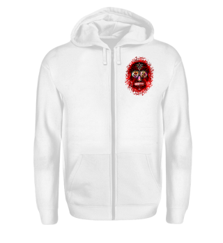 Mexican Cross Skull Blood Red
