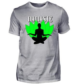 Namaste - Meditieren vor Blättern