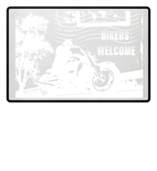 Bikers Welcome Traveller door mat