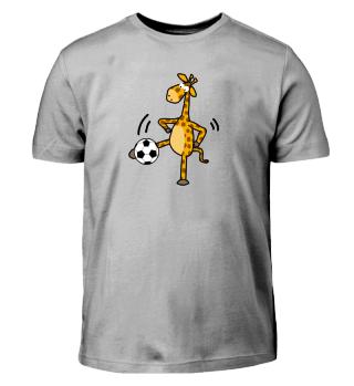 Lustige Giraffe spielt Fußball - Kids