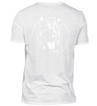 BELGIAN MALINOIS Hund dog Backprint