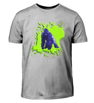 Gorilla Blau und Grün - Kinder