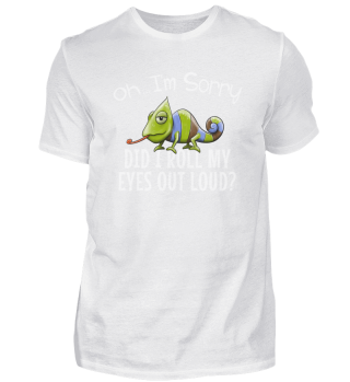Grumpy Chameleon Roll Eyes Out Loud Gift