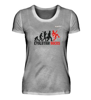 Evolution Rocks / Damen Premium TShirt