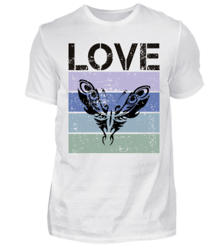 Stripes - LOVE Tattoo Butterfly - black