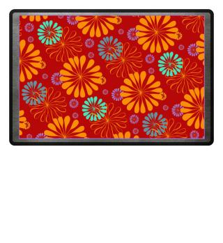 Abstraktes Blumen Muster V