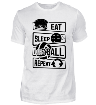 Eat Sleep Volleyball Repeat - Volley Net