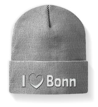 I love Bonn - Mütze mit Stickerei