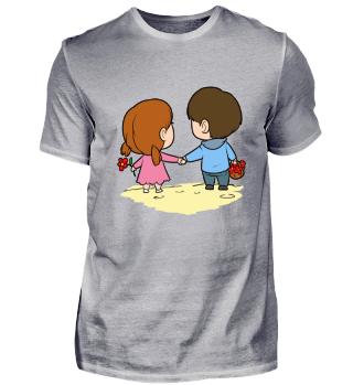 Valentinstag Sandkastenliebe T Shirt