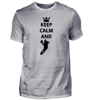 geschenk keep calm and basketball dunking dunker bal