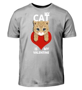 My cat is my valentine. Valentinstag
