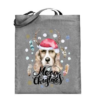 ☛ Merry Christmas · Boho Dog · Hund #4B