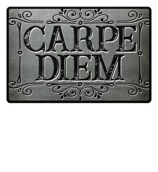 CARPE DIEM - vintage frame Fußmatte