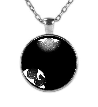♥ Vintage Mandala I Cat I - black Kette
