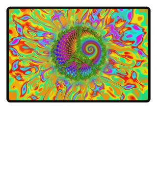 ☮ Psychedelic HEMP PEACE MANDALA