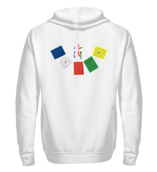 ♥ Tibetan OM Prayer Flags Zipper