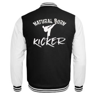 Natural born kicker martial arts kick in