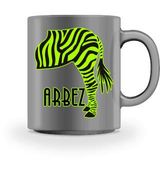 ARBEZ Zebra von Hinten - black green 1