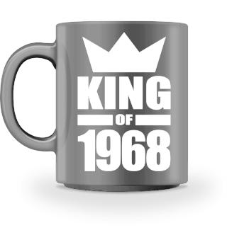 King of 1968 Geburtstag Geschenk - Krone