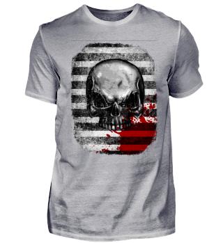 blood stain skull