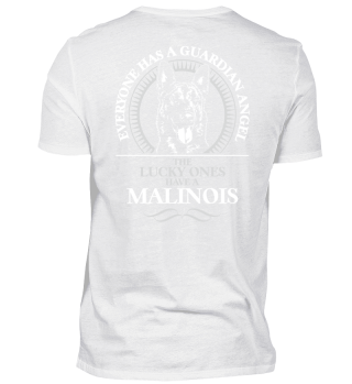 MALINOIS Guardian Angel dog Backprint