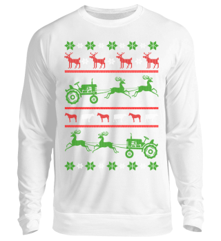 Ugly Christmas tractor