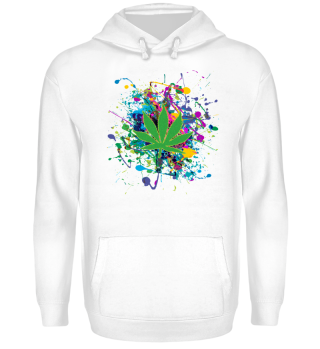 ★ Color Splashes - Marijuana Leaf II