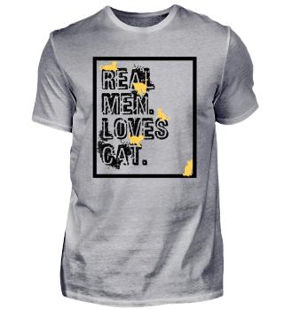 Realen men Loves cat