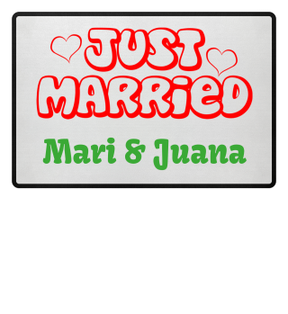JUST MARRIED - Name rot Fussmatte