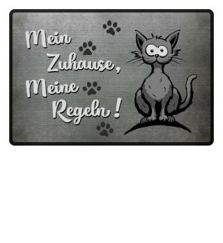 Katze Zuhause Fussmatte