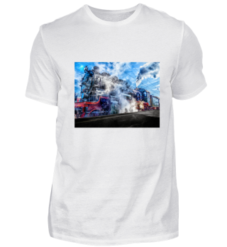 EXKLUSIV Eisenbahn Train Rail Shirt Motiv