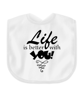 ♥ Life Is Better With You - black