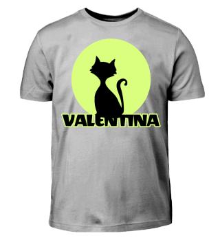 Valentina Vorname Kinder T-Shirt Katze