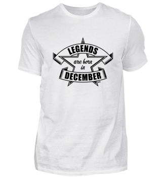 Legends are born in December (Geburtstag / Geschenk) Black