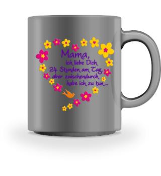 ♥ Mama Ich Liebe Dich - Blüten Herz 1 ♥