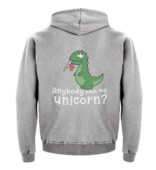 Dino eats unicorn T-Rex funny gift