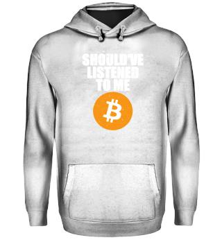 BTC Bitcoin Gift crypto currency Shirt