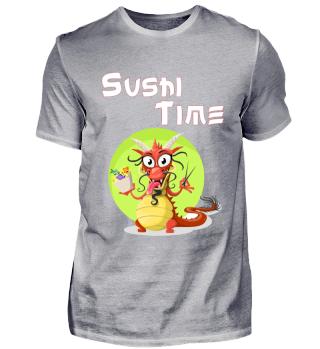 Sushi-Drache Dragon Funny Lustig