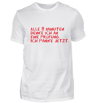Prüfung, Paniken - t-shirt